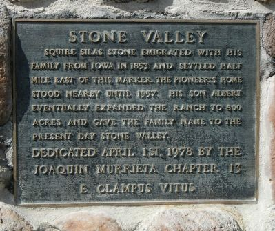 Stone Valley Marker image. Click for full size.