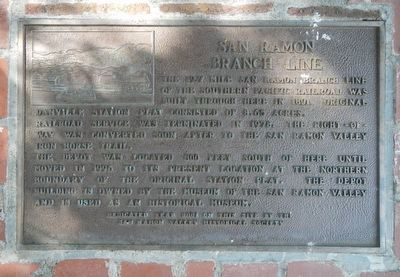 San Ramon Branch Line Marker image. Click for full size.