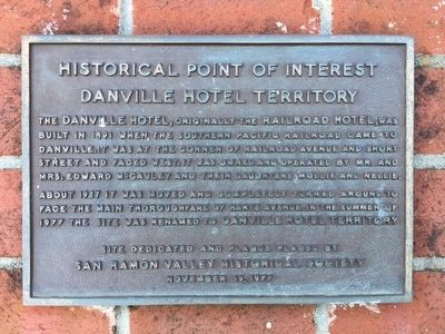 Danville Hotel Territory Marker image. Click for full size.