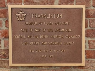 Headquarters of General William H. Harrison Marker image. Click for full size.