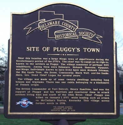 Pluggy's Town Marker image. Click for full size.