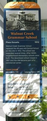 Walnut Creek Grammar School Marker image. Click for full size.