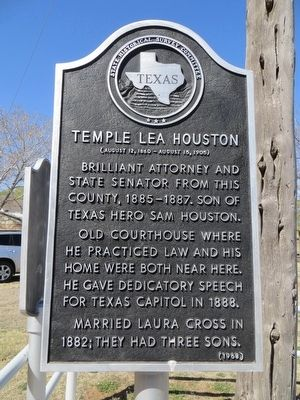 Temple Lea Houston Marker image. Click for full size.