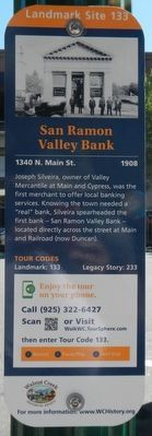 San Ramon Valley Bank Marker image. Click for full size.