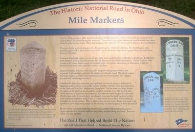 The Historic National Road in Ohio Marker image. Click for full size.