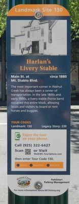 Harlan's Livery Stable Marker image. Click for full size.
