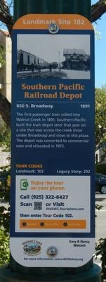 Southern Pacific Railroad Depot Marker image. Click for full size.
