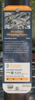 Broadway Shopping Center Marker image. Click for full size.