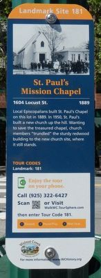 St. Paul's Mission Chapel Marker image. Click for full size.