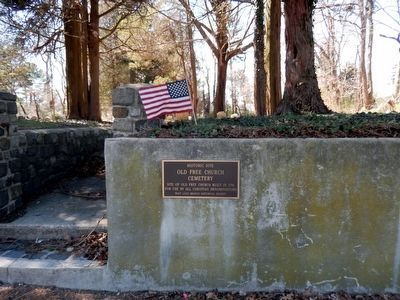 Historic Site of Old Free Church Cemetery Marker image. Click for full size.