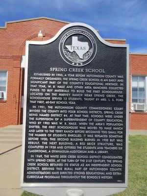 Spring Creek School Marker image. Click for full size.
