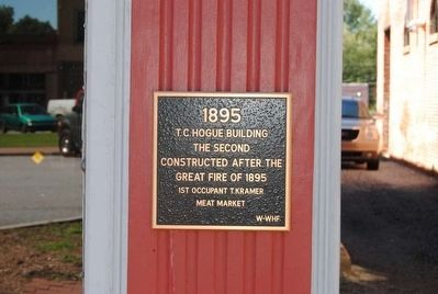 T.C. Hogue Building Marker image. Click for full size.