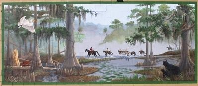 Elusive Francis Marion 1780-1781 Mural image. Click for full size.