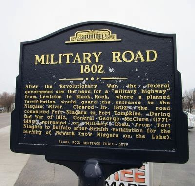 Military Road Marker image. Click for full size.