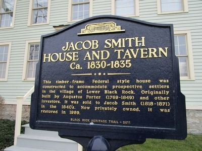 Jacob Smith House and Tavern Marker image. Click for full size.