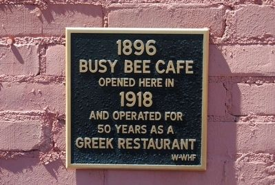 Busy Bee Cafe Marker image. Click for full size.