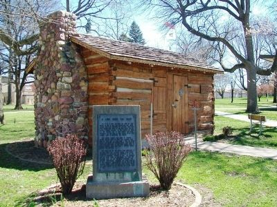 John Gingery Cabin and Marker image. Click for full size.