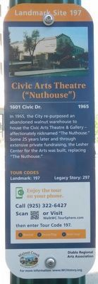 "Civic Arts Theatre (""Nuthouse"") Marker image. Click for full size."