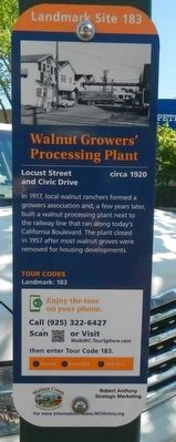 Walnut Growers; Processing Plant Marker image. Click for full size.