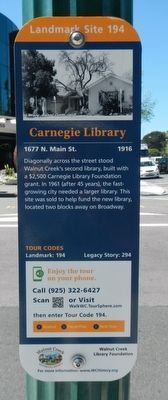 Carnegie Library Marker image. Click for full size.