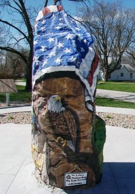 Lewis Freedom Rock Veterans Memorial image. Click for full size.