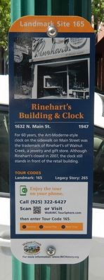 Reinharts's Building & Clock Marker image. Click for full size.
