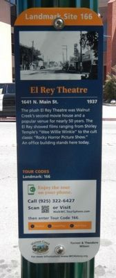 El Rey Theatre Marker image. Click for full size.