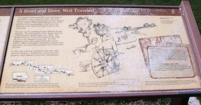 A Road and River, Well Traveled Marker image. Click for full size.