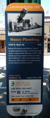 Mauzy Plumbing Marker image. Click for full size.