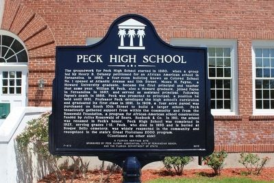 Peck High School Marker-Side 1 image. Click for full size.