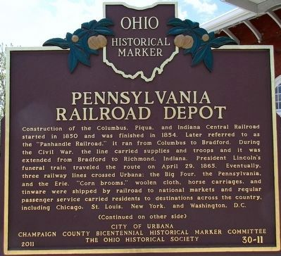 Pennsylvania Railroad Depot Marker (side A) image. Click for full size.