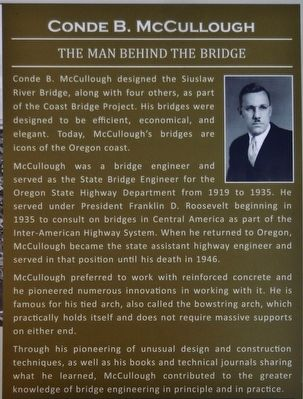 Conde B. McCullough (<i>marker inset panel</i>) image. Click for full size.