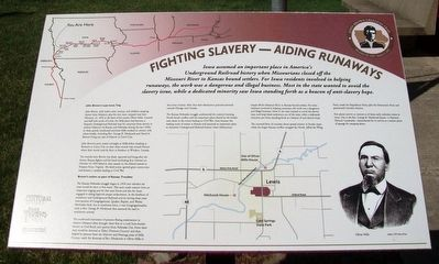 Fighting Slavery – Aiding Runaways Marker image. Click for full size.