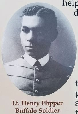 Lt. Henry Flipper<br>Buffalo Soldier image. Click for full size.