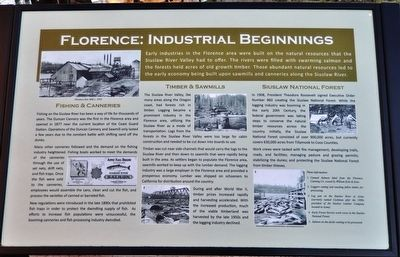 Florence: Industrial Beginnings Marker image. Click for full size.
