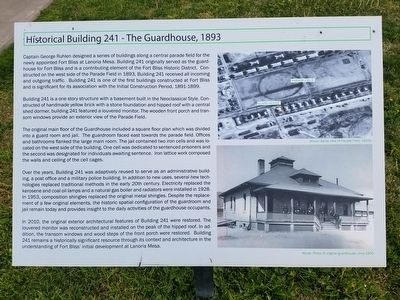 Historical Building 241 - The Guardhouse, 1893 Marker image. Click for full size.