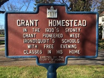 Grant Homestead Marker image. Click for full size.