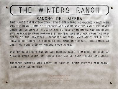 The Winters Ranch Marker image. Click for full size.