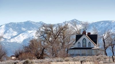Winters Ranch House and Sierra Nevada Mountains image. Click for full size.