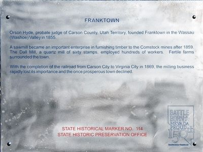Franktown Marker image. Click for full size.