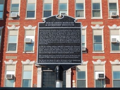 Perth Amboy Barracks & Inventors' Institute Marker image. Click for full size.