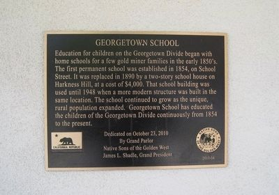 Georgetown School Marker image. Click for full size.