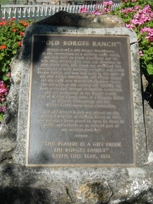 """Old Borges Ranch"" Marker image. Click for full size."