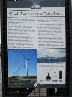 Wind Power on the Waterfront Marker image. Click for full size.