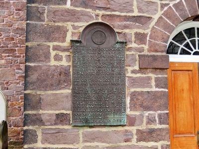 Christ Church-Tower tablet-Left side image. Click for full size.