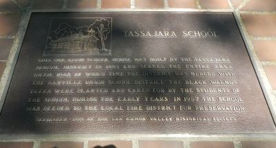 Tassajara School Marker image. Click for full size.