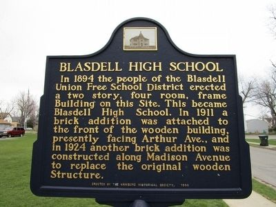 Blasdell High School Marker image. Click for full size.