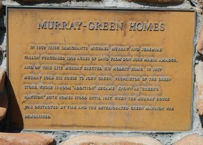 Murray-Green Homes Marker image. Click for full size.
