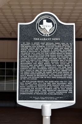 The Albany News Marker image. Click for full size.