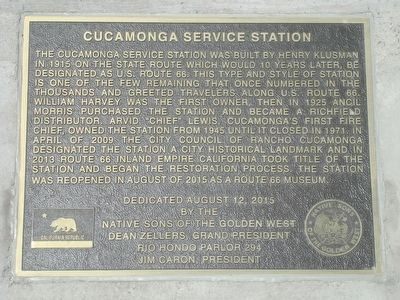 Cucamonga Service Station Marker image. Click for full size.